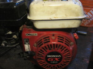 Honda GX160 with reduction gear.