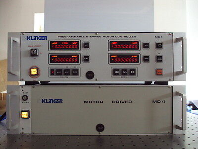 Newport Klinger Md4 Mc4 Four Axis Motor Controller Driver Set Md 4 Mc 4