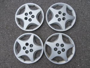 """Set of Four 14"""" Plastic OEM Chevrolet Wheel Covers for Sale"""