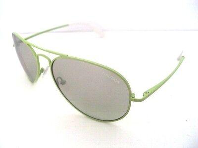 NAUTICA N5081 5081SNP 328 AVIATOR Lime green Unisex SUNGLASSES (Lime Green Aviator Sunglasses)