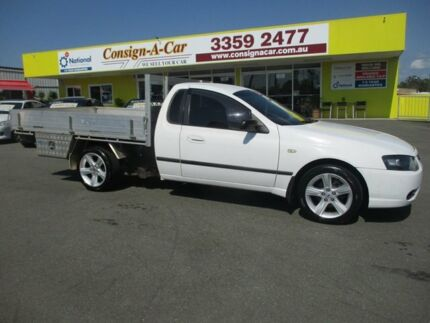 2007 Ford Falcon BF Mk II XL Super Cab White 4 Speed Sports Automatic Cab Chassis Kedron Brisbane North East Preview