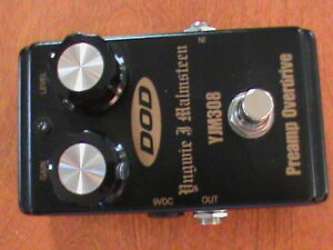 yjm yngwie malmsteem 308 dod overdrive pedal with true by pass