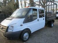 2013 Ford Transit 2.2TDCi 350 LWB Double cab CAGED TIPPER PICK UP 65,000 MILES