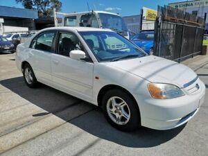 2002 Honda Civic 7th Gen GLi White 5 Speed Manual Sedan Lidcombe Auburn Area Preview