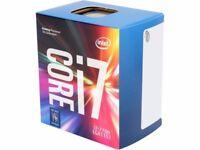 Intel i7 7700 KabyLake quadcore - 8 threads. 3.6 to 4.2 Ghz