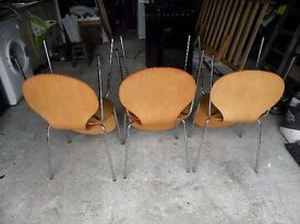 6 plywood chairs for restoration although in good order