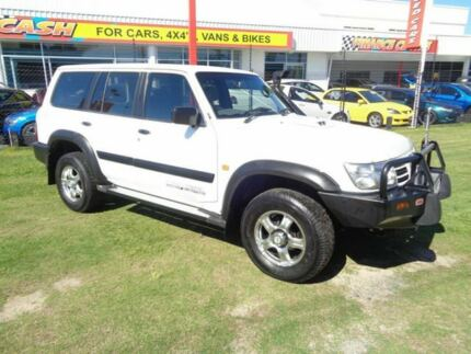 2001 Nissan Patrol GU II ST White 5 Speed Manual Wagon