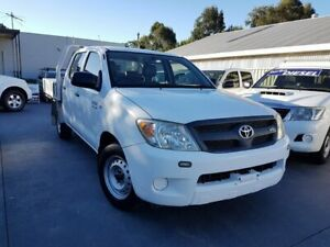 2008 Toyota Hilux GGN15R 08 Upgrade SR White 5 Speed Automatic Dual Cab Pick-up Canley Vale Fairfield Area Preview