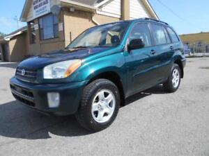 2002 TOYOTA  RAV4 AWD 2.0L Automatic ONLY 170,000KMs