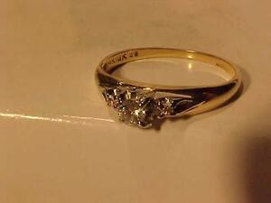#927-14K/18K BIRKS ENGAGEMENT RING-Size 7 1/2-APPRAISED $1,300.00-HALLMARKED SALE $425.00--WILL ACCEPT EBAANK TRANSFER