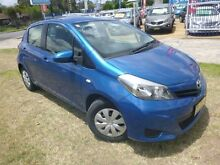 2012 Toyota Yaris NCP130R YR Caribbean Blue 4 Speed Automatic Hatchback Brownsville Wollongong Area Preview