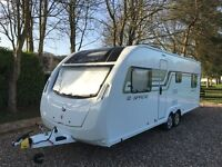 SWIFT SPRITE QUATTRO 2015 6 BERTH WITH FULL AWNING EXCELLENT CONDITION FOR QUICK SALE
