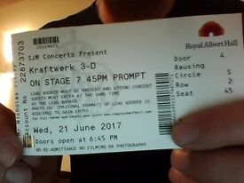 1 x Kraftwerk Ticket Royal Albert Hall 21st June