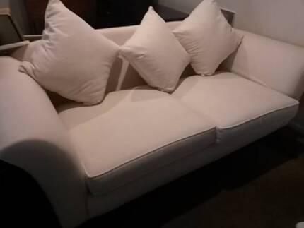 Plush Light Beige Ex-Display 2 Seater Sofa Taylors Lakes Brimbank Area Preview
