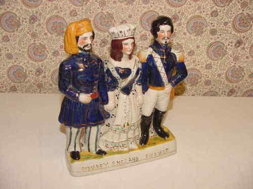 Turkey England France Figurine Napoleon Queen Victoria Sultan Medjid Crimean War