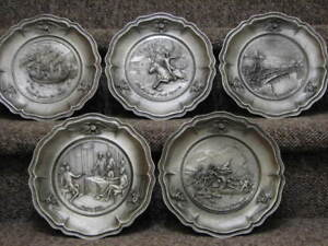 Birth of a Nation, Worcester Pewter, 5 Plate Collection