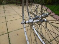 """Pair of 27"""" sprint wheels (for tubs), Campagnolo Q/R, Fiamme"""