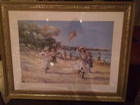 Gilt Framed Picture - Sophie's New Kite