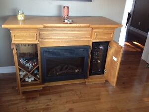 REDUCED!!  FIRE & WINE--Fireplace with Wine Cooler