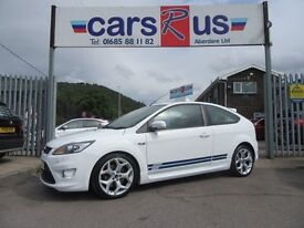 Ford Focus ST-2 3d 223 BHP full main service dealer history (white) 2008