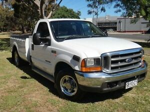 2001 Ford F250 RM XLT White 4 Speed Automatic Cab Chassis Albert Park Charles Sturt Area Preview