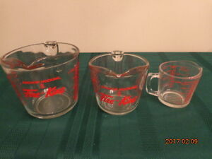 Glass Measuring Cups: Anchor Hocking Fire-King & Glasbake