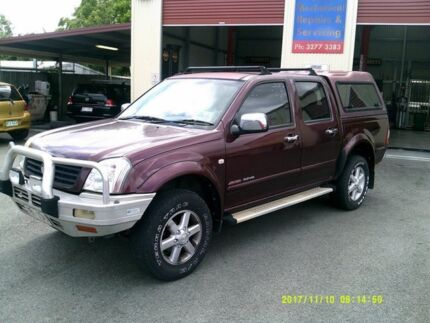 2003 Holden Rodeo RA LT (4x4) Maroon 4 Speed Automatic Crew Cab Pickup