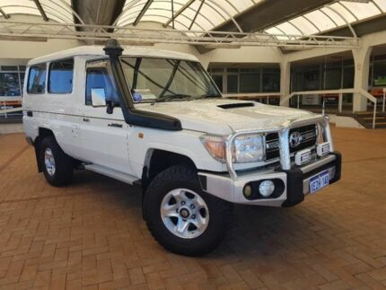 2008 Toyota Landcruiser VDJ78R GXL Troopcarrier White 5 Speed Manual Wagon Melville Melville Area Preview