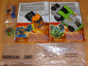 TRANSFORMERS BOTCON 2007 SPRINGER & HUFFER EXCLUSIVES