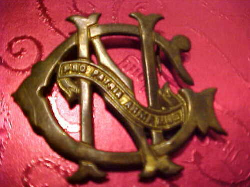 CIVIL WAR UNION 1860 NEW YORK N.Y.N.G. ELLSWORTH LIGHT INF. CARTRIDGE BOX EMBLEM