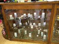 Retail Shop Display - Includes 3 Cabinets, Glass Shelves, Brackets, Free Standing Units and more