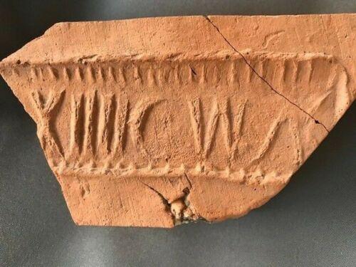 Ancient Roman Legion XIIII Stamped Military Brick (2nd-4th Century AD)