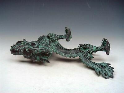 Bronze Crafted Sculpture Furious Walking Dragon Holding Pearl Ball #02232102