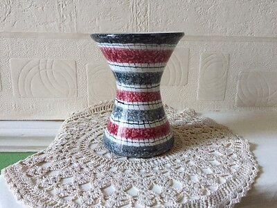 Vintage Art Pottery Vase Italy Mid Century Modern 1950s