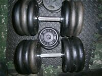 Dumbells, with 71KG of weight plates