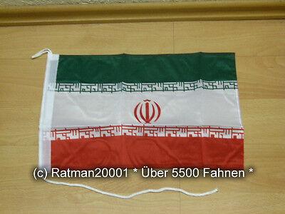 Fahnen Flagge Iran Bootsfahne Tischwimpel - 30 x 40 cm