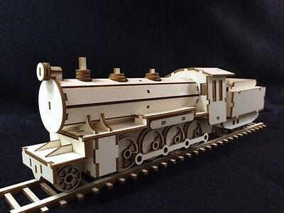 Laser Cut Wooden Steam Train 3D Model/Puzzle Kit