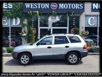 2003 Hyundai Santa Fe 4WD* PWR GROUP* CERT&ETESTED