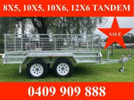 10x6 TANDEM TRAILER HOT DIP GAL FULLY WELDED NEW TYRES ATM 2000KG Ferntree Gully Knox Area Preview