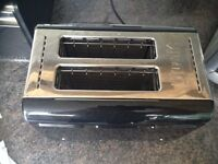 Dualit - Black/Silver Toaster - almost brand new