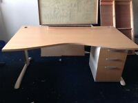 Huge Clearance of office furniture moving premises Desks from £15 chairs£5 Cupboards £50 ETC