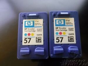HP Printer Ink sealed 56 - Black and 57 Tri-colour