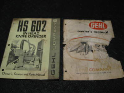 Gehl Hs 602 In Head Knife Grinder Service Parts Owner Manual Form 901852 Two Row