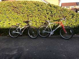 "2 Specialised Hard Rock bikes 21"" & 15.5"" frames for sale both in excellent condition"