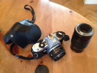 Pentax MG Camera with separate zoom lens, never used