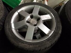 SET OF 4 FORD WHEELS AND TYRE 16 INCH