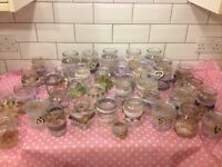 38 Vintage Lace / Hessian Jam Jar Candle Holders / Vases for wedding / party