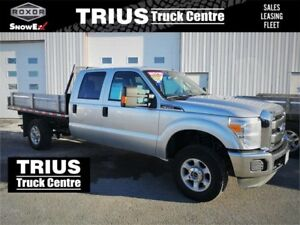 2016 FORD F-350 4WD CREW FLATBED