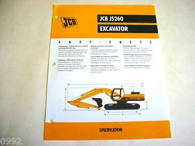 Jcb Js260 Excavator Brochure
