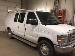 2011 Ford E 250 Van, contractor style shelving and roof rack